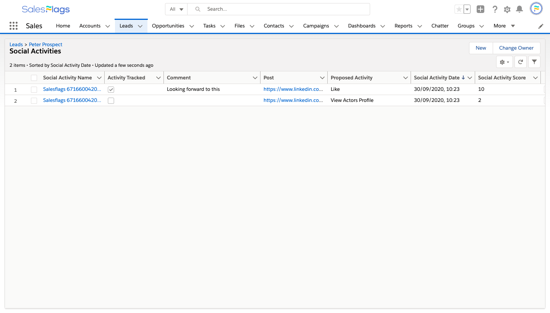 Marketing Tracker Screenshot